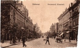 ROMANIA BUCURESTI-BUKAREST-BULEVARDUL  ELISABETA-1917 - Romania