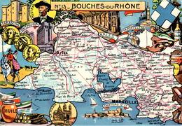 PINCHON Cp Glacée Année 1945 Département Des Bouches-du-Rhône (13) Arles Aix Marseille Tarascon Peyrolles Aubagne Trets - France