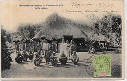 CPA Nouvelles Hébrides Circulé Type Voir Scan Du Dos Café Métier - Vanuatu