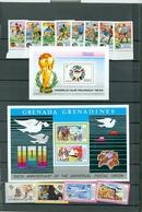 Grenada Grenadines World Cup Soccer Football UPU Set Souvenir Sheet Block MNH WYSIWYG 1974 A04s - Grenada (1974-...)