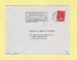 Marseille - Champollion Le Nil - Variete Date Incomplete Sur La Flamme - 1973 - Postmark Collection (Covers)