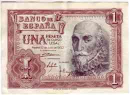 (Billets). Espagne 1 Peseta 22 Juillet 1953 P144 - [ 3] 1936-1975 : Regency Of Franco