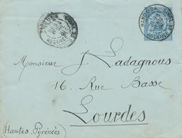 """Cachet"""" MANOUBA REGENCE DE TUNIS """" Avec MOIS EN CARACTERES ROMAINS Sur Devant D' ENTIER Enveloppe 15c - Cartas"""