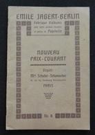 Catalogue Emile JAGERT-BERLIN - Fabrique D'albums Pour Cartes Postales - Schuller Schumacher Paris - Boeken