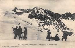 """0048 """"FRANCIA - SAINT JEAN DE MAURIENNE - LA CHAMBRE (SAVOIE) - LE COL DE LA MADALEINE""""  ANIMATA. CART   SPED 1909. - Saint Jean De Maurienne"""