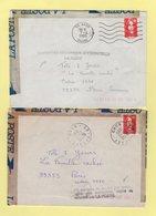 Marianne De Briat - Lot De 2 Lettres Accidentees Avec Griffe De La Poste - 1961-....