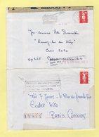 Marianne De Briat - Lot De 2 Lettres Accidentees Avec Griffe De La Poste - Abarten Und Kuriositäten