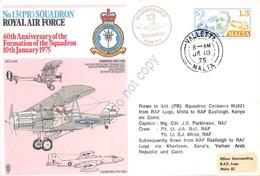 Malta 1975 - Royal Air Force No13 Squadron - La Valletta - Timbres