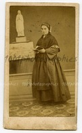 CDV Paul Dufour, Libraire éditeur à Lourdes. Portrait De Bernadette Soubirous. - Unclassified
