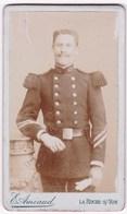 Ancienne Photo Portrait Format CDV Homme Militaire (E. Amiaud, La Roche-S/-Yon) - Persone Anonimi