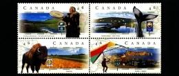 CANADA - 1999  SCENIC  HIGHWAYS  BLOCK  MINT  NH - 1952-.... Regno Di Elizabeth II