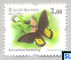 Sri Lanka Stamps 2018, Wild Animals, Butterfly, Butterflies, Definitive, MNH - 1 Of 3v - Sri Lanka (Ceylon) (1948-...)