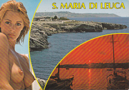 LECCE - Santa Maria Di Leuca - 2 Vedute + Pin Up - Donnina Sexy - Sexy Woman Pose - Naked - Nude - Shirtless - Topless - Lecce
