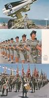ZAHAL. ISRAEL'S DEFENCE FORCES. 6 POSTCARD. PALPHOT LTD. PHOTOSET SOUVENIR LAMBRANÇA GRUSS AUS. CIRCA 1980.-BLEUP - Israël