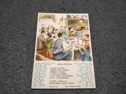 "PORTUGAL CHRISTMAS STATIONERY POSTCARD ""BOAS-FESTAS "" Nº187 1955/56 UNUSED - Postal Stationery"