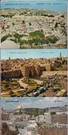 JERUSALEM, OLD CITY. 4 POSTCARD. PALPHOT LTD. PHOTOSET SOUVENIR LAMBRANÇA GRUSS AUS. CIRCA 1980.-BLEUP - Israël