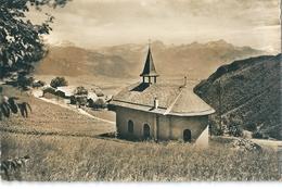 MIEX S/ VOUVRY  -  Suisse  -  Vue Sur Les Diablerets , Les Muverans Et Les Dents De Moscles . ( Photo Dentélée N Et B ) - VS Valais