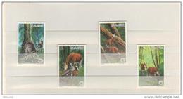 BUZIN / ZAIRE 1984 / WWF / SERIE COMPLETE OKAPI / COB 1253-1256 - 1985-.. Oiseaux (Buzin)