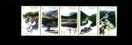 CANADA - 1991  CANADIAN RIVERS  STRIP  MINT NH - 1952-.... Regno Di Elizabeth II
