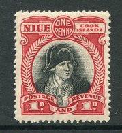Niue 1932 Pictorials - No Wmk. - 1d Captain Cook LHM (SG 56) - Niue
