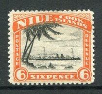 Niue 1932 Pictorials - No Wmk. - 6d RMS Monowai LHM (SG 60) - Niue