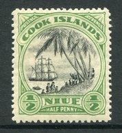Niue 1932-36 Pictorials - Wmk. NZ & Star - ½d Landing Of Captain Cook HM (SG 62) - Niue