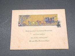 VIEUX PAPIERS - Carte Souvenir Anglaise Joyeux Noël - L 18658 - Obj. 'Remember Of'
