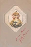 "0054 ""FIGURA FEMMINILE -  ART NOUVEAU - IN RILIEVO"" ANIMATA. CART  SPED 1902 - Cartes Postales"