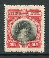 Niue 1932-36 Pictorials - Wmk. NZ & Star - 1d Captain Cook MNH (SG 63) - Niue