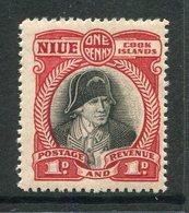 Niue 1932-36 Pictorials - Wmk. NZ & Star - 1d Captain Cook HM (SG 63) - Niue