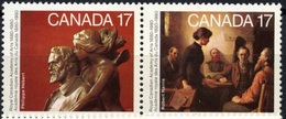 Canada 1980 - Pair Of 2 100th Anniversary Of The Royal Canadian Academy Of Arts Art Sculpture Stamps MNH SG#972-973 - 1952-.... Reign Of Elizabeth II