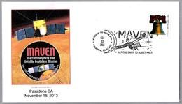 Sonda MAVEN (Mars Atmosphere And Volalite Evolution Mission). Pasadena CA 2013 - Astronomùia