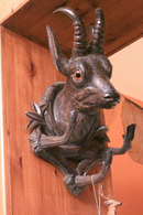 Art-antiquité_sculpture Bois_86_sculptures Têtes De Chamois - Wood