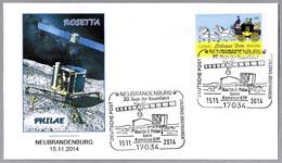 Sonda ROSETTA Y PHILAE - Kometa 67P. Neubrandenburg 2014 - FDC & Commémoratifs