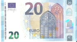 20 Euros 2015 Serie RB   R013   E4  DRAGHI   ..2 SCANER - EURO