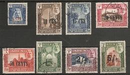 ADEN KATHIRI STATE OF SEIYUN 1951 SET SG 20/27 FINE USED Cat £110 - Aden (1854-1963)