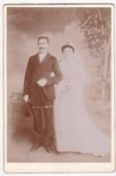 Ancienne Photo Portrait Couple Mariage (P. Martin, Chateaubriant) - Persone Anonimi