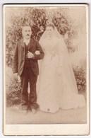 Ancienne Photo Portrait Couple Mariage (Cosset-Chabot, Paris) - Persone Anonimi