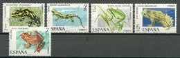 Spain – Mi.Nr. 2164-2168** Frogs Toad Fire Salamander [1975] - Frogs