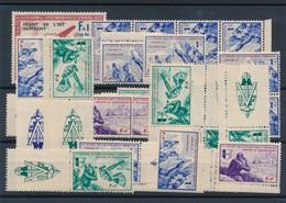 BZ-330: FRANCE: Lot  Avec LVF**/*, Séries Incomplètes Avec Des Doubles Avec Ou Sans Vignettes - Guerres