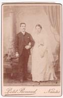 Ancienne Photo Portrait Couple Mariage (Petit Renaud, Nantes) - Persone Anonimi