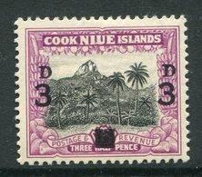 Niue 1940 Surcharge - 8d On 1½d Unissued Tropsical Landscape HM (SG 76) - Niue