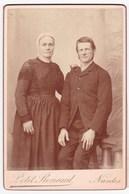 Ancienne Photo Portrait Couple Costume Coiffe (Petit Renaud, Nantes) - Persone Anonimi