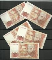 ESPAÑA LOTE DE 5 BILLETES DE 200Pts. EN MUY BUENA CONSERVACIÓN AÑO 1980 - [ 4] 1975-… : Juan Carlos I