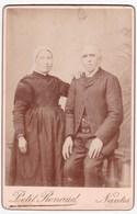Ancienne Photo Portrait Couple Costume Coiffe (Mr Rouesné ?) (Petit Renaud, Nantes) - Personnes Anonymes