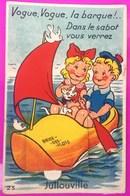 Carte à Système Jullouville Carte Postale 50 Manche Rare Proche Granville Carolles - France