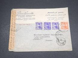 EGYPTE - Enveloppe Du Caire Pour Paris En 1949 Avec Contrôle Postal - L 18668 - Covers & Documents