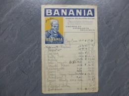 BANANIA Facture Illustrée Vers 1930; Ref 181VP45 - France