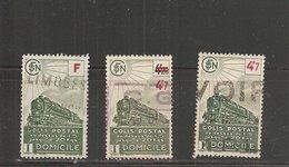 Colis Postaux  N°  202 - 206 - 210   ( Cat. 4 - 1 )   07-06-18 - Colis Postaux