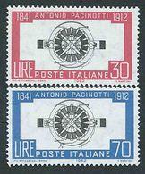 Italia, Italy, Italien 1962: The Famous Physicist Antonio Pacinotti (1841-1912), Inventor Of The Dynamo, Complete.New. - Fisica